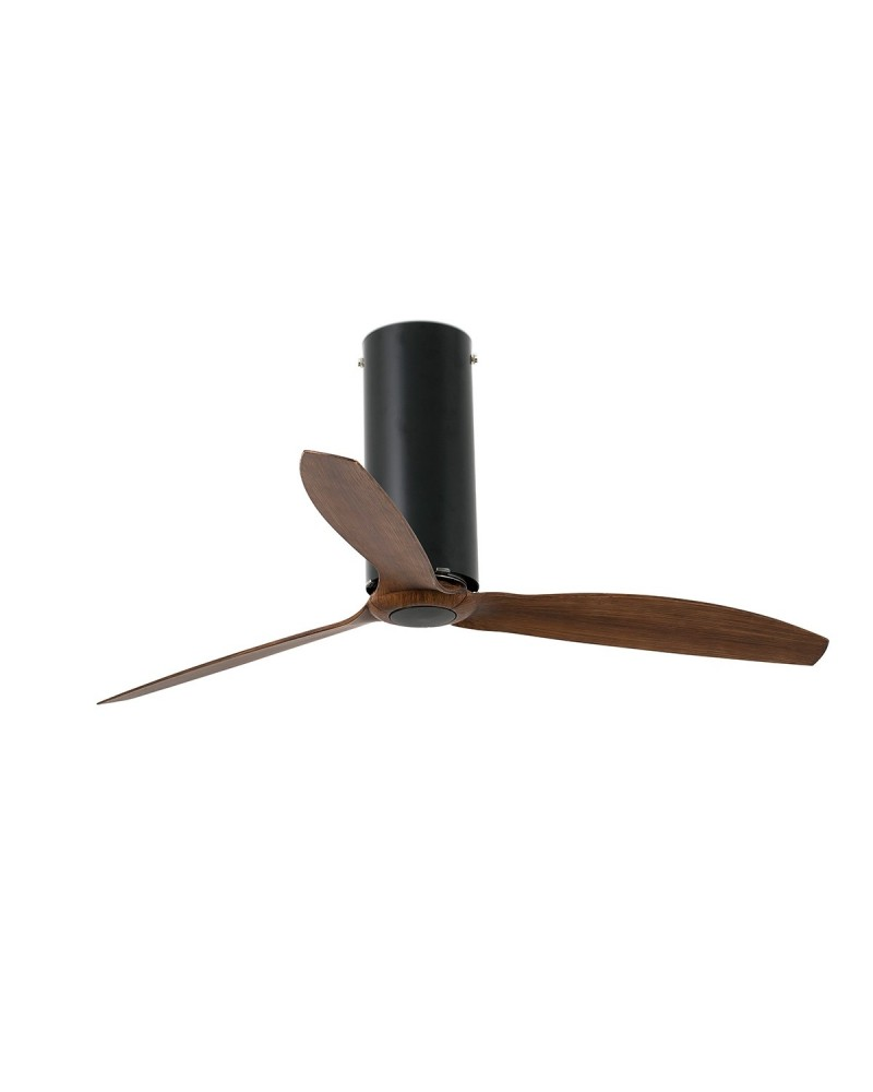 tube-fan-matt-black-wood-ceiling-fan-with-dc-motor-32037ul