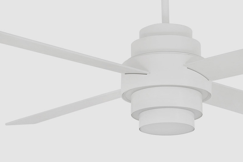DISC FAN LED White Ceiling Fan With DC Motor - 33397UL